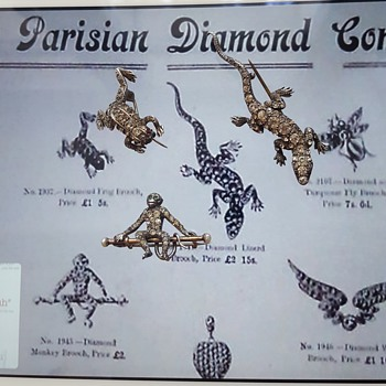 "Any infos on the Parisian Diamond Company? Mysterious maker ""etruscan urn"" mark related? - Advertising"