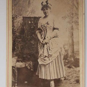Minnie Hauk , Lillian Grubb ,& Chief Debro cabinet cards