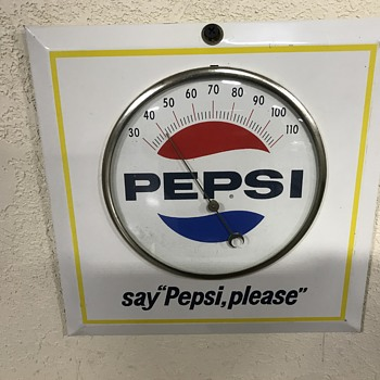Pepsi Cola thermometer  - Advertising