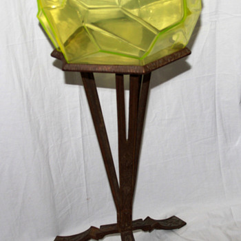 The Ruba Rombic Fishbowl With Original Stand, That's right - Art Glass