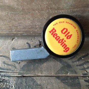 Old Reading Beer Cooler Tap Knob - Breweriana