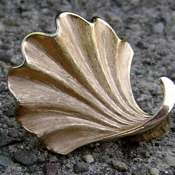 Trifari Brooch - Seashell - Costume Jewelry