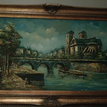W. Harlock Oil Painting