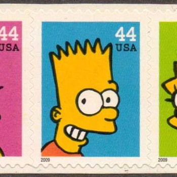 "2009 - ""The Simpsons"" Postage Stamps (US) - Stamps"
