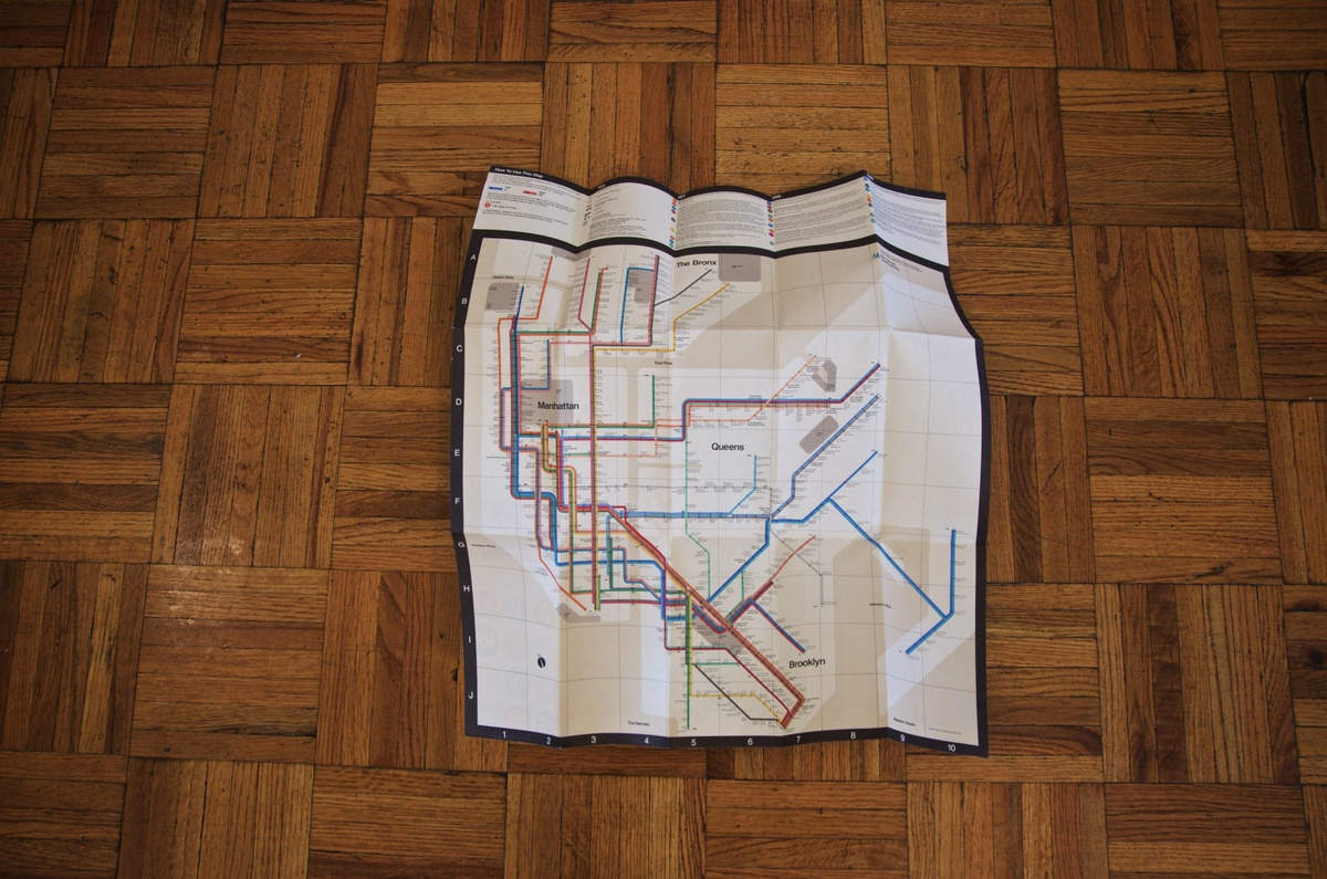 Massimo Vignelli 1972 Nyc Subway Map.1972 Massimo Vignelli New York Subway Map Collectors Weekly