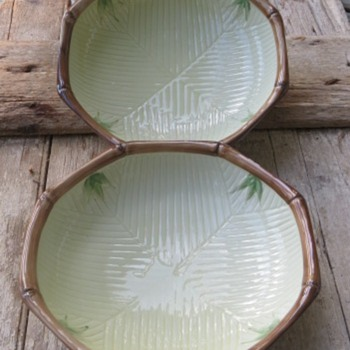 "9"" Asian Bamboo Bowls - Pottery"