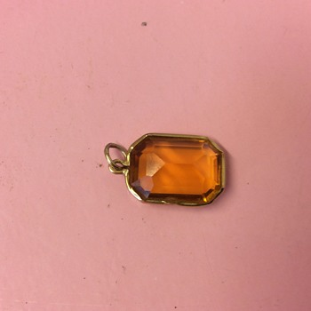 Vintage Egyptian 18ct Gold 15ct approx stone pendant - Fine Jewelry