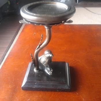 Bronze bird pedistal - Fine Art