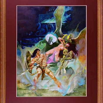 Esteban Maroto - Conan the Barbarian Painting Original Art (1977)