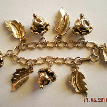Church Fair Find ~ Charm Bracelet - Costume Jewelry