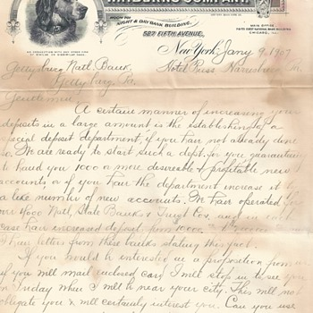 "Advertising Letter W.F.Burns Company""January 9-1907"""