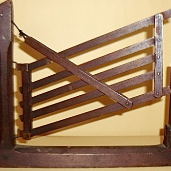 1869 PATENT MODEL TILTING GATE - Advertising