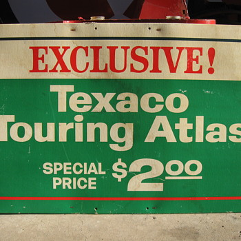 TEXACO Cardboard Atlas Sign - Petroliana