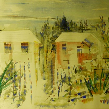 "1 of 2, Watercolours, Bermuda Homes""Alfred Birdsey"" Bermudan/British (1912 - 1996)Circa 1960-70 - Fine Art"