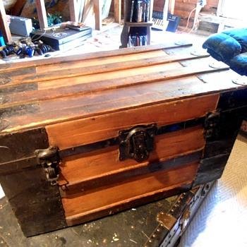 Small Antique Trunk - Furniture