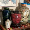 Various Japanese Pieces of Pottery Arranged...