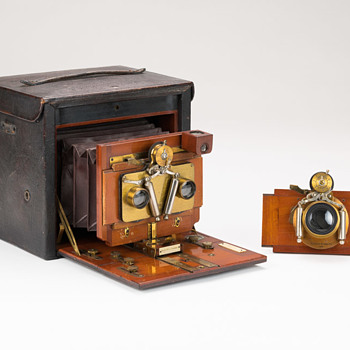 No.5 Folding Kodak: 1893 Stereo Model  - Cameras
