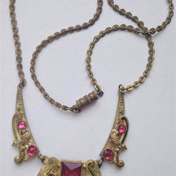 1920s Czech necklace, possible Neiger piece - Costume Jewelry