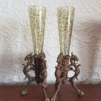 Heckert Glass? Vases - Art Glass
