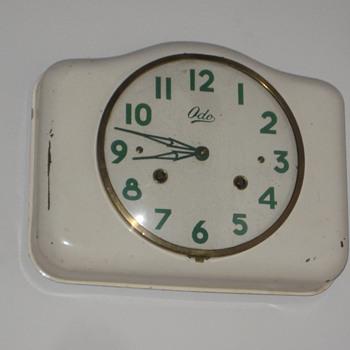 Antique 1950's French ODO wall clock.  - Clocks