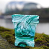 SOWERBY PETIT SPILL VASE IN MALACHITE GLASS