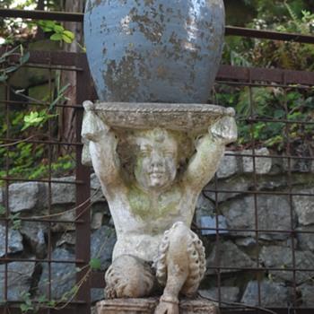 Cast Stone Satyr Stand - 1920s / 30s? - Fine Art