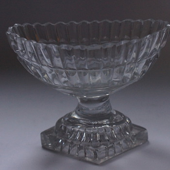 Irish Pedestal Salt Boat - Glassware