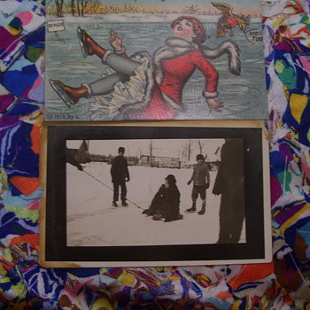 VINTAGE FROZEN PONDS, and UPS & DOWN PICTURES - Cards