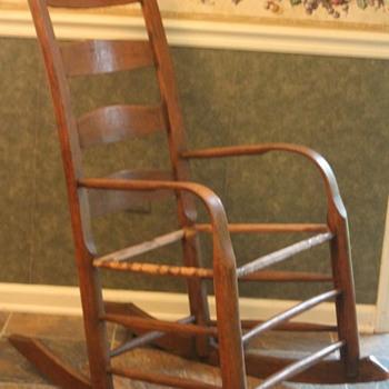 thoughts on ladderback bent arm rocker...