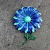 Vintage Enamel Flower Power Pin