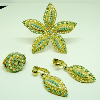 Sarah Coventry Brooch Set - Ocean Star - Costume Jewelry