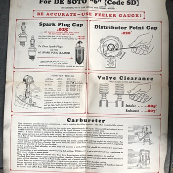 De Soto flier spark plug - Paper