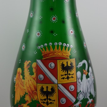 "Harrach vase in the ""Alt Deutsch"" (Old German) style, ca. 1860 - Art Glass"