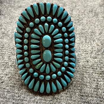 Native American Navajo Cluster Cuff Bracelet - Fine Jewelry