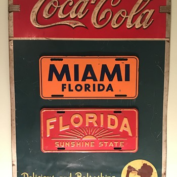Vintage Coca Cola Menu Sign - Coca-Cola