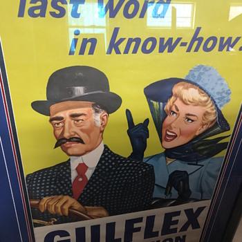 Gulf flex poster - Petroliana