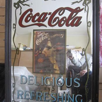 1904 Coca Cola Pub Advertising Mirror  - Coca-Cola