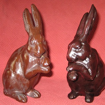 More Vintage Japanese Hare Doorstops - Animals