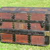 "22"" Leather covered Roll Top Trunk"