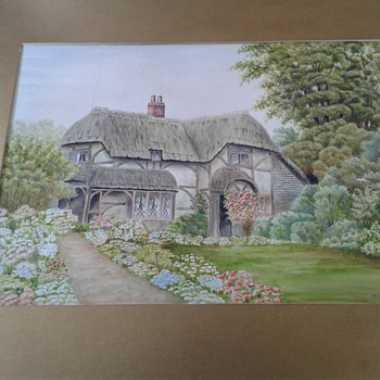 English country cottage - Fine Art