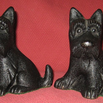 Vintage Scottish Terrier (Fala) Doorstops - Animals