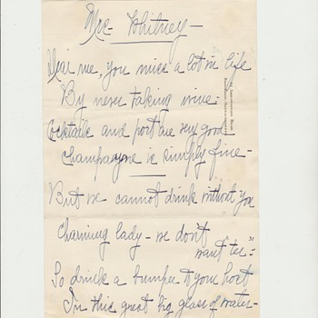 Ca. 1920s Joseph P Kennedy Sr. Handwritten Memo - Paper