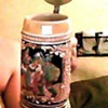BEAUTIFUL HAND PAINTED MUSICAL TANKARD