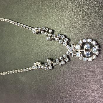 Beautiful Rhinestone Necklace - Costume Jewelry