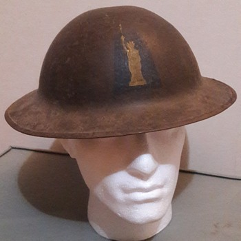 US WW1 M1917 helmet - 77th Infantry Division - Military and Wartime
