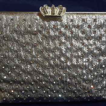 CZ Silver Mesh Cluch/Evening Bag. - Bags