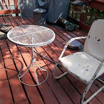 My New Old Deck Table And Furniture From Long Beach - Furniture