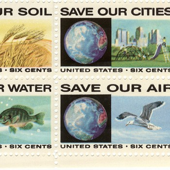 Save our Environment Plate Block - Stamps