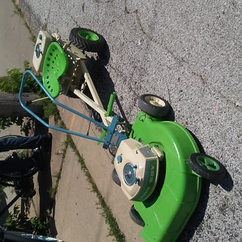 VINTAGE MOWER WITH RIDER ATTACHMENT  - Tools and Hardware