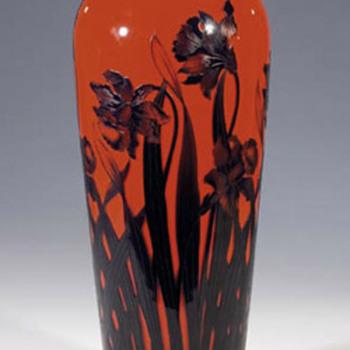 Kralik - Cameo Type #5-  Tango cameo - Art Glass